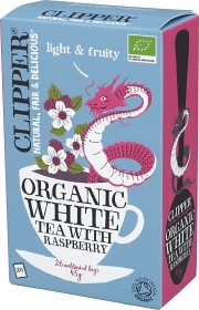 Bild på Clipper Organic White Tea Raspberry 26 tepåsar