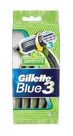 Bild på Gillette Blue 3 Sensitive Engångshyvlar 4 st