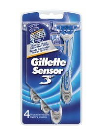 Bild på Gillette Sensor3 Engångshyvlar 4 st