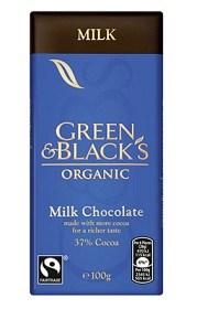 Bild på Green & Blacks Milk Chocolate 100 g