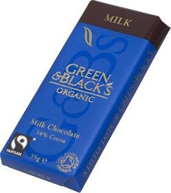 Bild på Green & Blacks Milk Chocolate 35 g