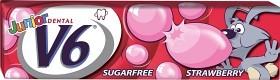 Bild på V6 Junior Bubble Gum Jordgubb, 5 st