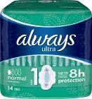 Always Ultra Normal 14 st oparfymerad