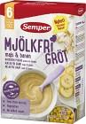 Semper Mjölkfri Gröt med Majs & Banan 6M 400 g
