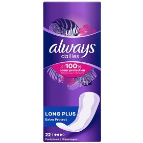 Bild på Always Dailies Long Plus Extra Protect 22 st mild doft
