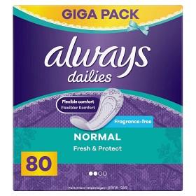 Bild på Always Dailies Normal Fresh & Protect 80 st doftfri
