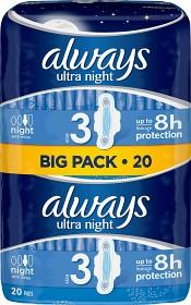 Bild på Always Ultra Night 20 st oparfymerad