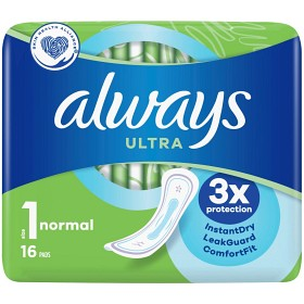 Bild på Always Ultra Normal 16 st oparfymerad