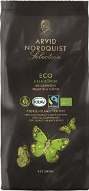Bild på Arvid Nordquist Kaffe Selection ECO Hela Bönor 450 g