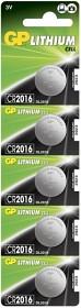 Bild på Batteri Lithium CR2016, 5 st
