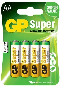 Bild på Batteri Super AA LR6 1,5V 4 st