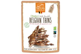 Bild på Belvas Belgian Thins Mjölkchoklad 120 g