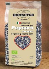 Bild på Biofactor Blå Majs Popcorn att Poppa i Gryta 500 g