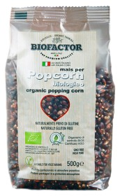 Bild på Biofactor Röd Majs Popcorn att Poppa i Gryta 500 g