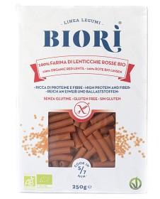 Bild på Biori Glutenfri Pasta Röda Linser Sedanini 250 g