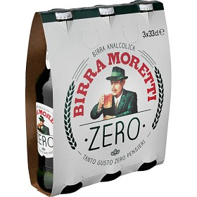 Bild på Birra Moretti Zero Alkoholfri Öl 3x33 cl