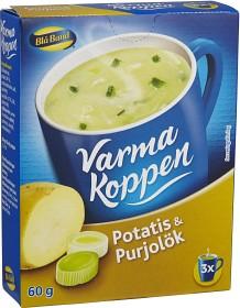 Bild på Blå Band Varma Koppen Potatis och Purjolökssoppa 3x2 dl