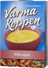 Bild på Blå Band Varma Koppen Räksoppa 69 g / 3x2 dl