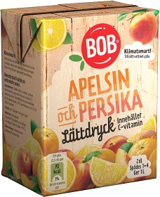 Bild på BOB Lättdryck Apelsin & Persika 2 dl