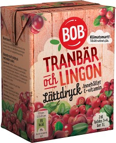Bild på BOB Lättdryck Tranbär & Lingon 2 dl