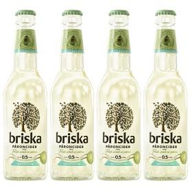 Bild på Briska Cider Päron Alkoholfri 4x33 cl