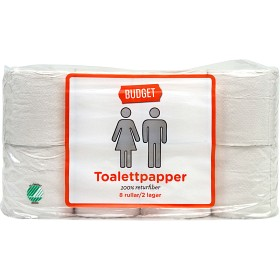 Bild på Budget Toalettpapper 8 rullar