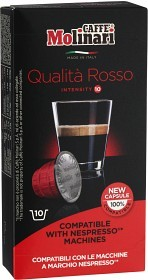 Bild på Caffee Molinari Kaffe Itespresso Rosso 10 st