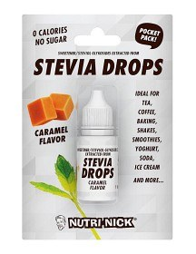 Bild på Nutri-Nick Stevia Drops Pocket Pack Caramel 10 ml
