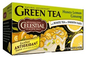 Bild på Celestial Green Tea Honey Lemon Ginseng 20 tepåsar