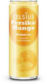 Bild på Celsius Persika/Mango Grönt Te 355 ml inkl. Pant