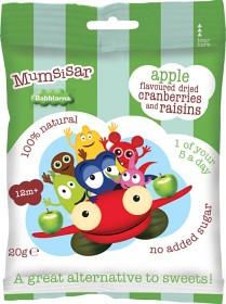 Bild på Clearly Scrumptious Mumsisar Apple Babblarna 20 g