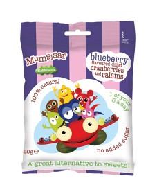 Bild på Clearly Scrumptious Mumsisar Blueberry Babblarna 20 g