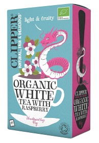 Bild på Clipper Organic White Tea Raspberry 26 tepåsar