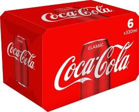 Bild på Coca-Cola Classic Burk 6x33 cl inkl. pant