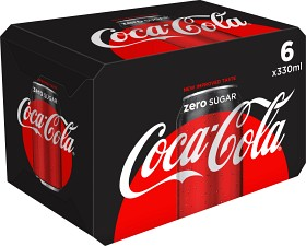 Bild på Coca-Cola Zero Burk 6x33 cl inkl. pant