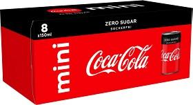 Bild på Coca-Cola Zero Mini Burk 8x15 cl inkl. pant