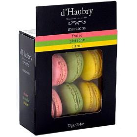 Bild på D'Haubry Macarons Jordgubb, Pistage & Citron 6 st