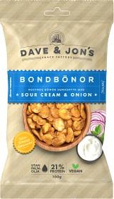 Bild på Dave & Jon's Rostade Bondbönor Sour Cream & Onion 100 g