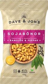 Bild på Dave & Jon's Rostade Sojabönor Ramslök & Peppar 100 g