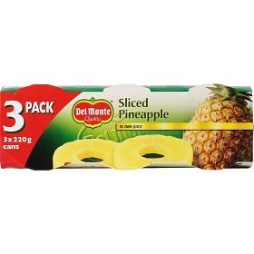 Bild på Del Monte Ananasskivor i Juice 3x220 g