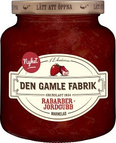 Bild på Den Gamle Fabrik Rabarber- & Jordgubbsmarmelad 380 g