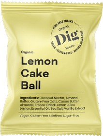Bild på Dig Organic Lemon Cake Ball 25 g