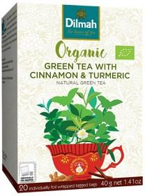 Organic Grönt Te Kanel Gurkmeja 20  P