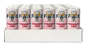 "Bild på The Dirtwater Fox Strawberry Cake ""Lets Feast"" Slim Can 24x25 cl"