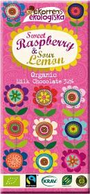 Bild på Ekorrens Ekologiska Hallon & Citron 85 g