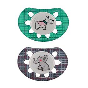 Bild på Esska Napp Classic Plus silikon Elefant & Hund