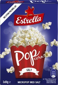 Bild på Estrella Micropopcorn Salt 3x80g