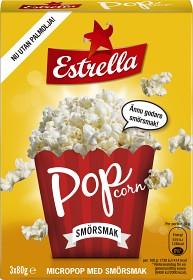 Bild på Estrella Micropopcorn Smör 3x80g