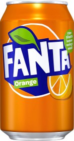 Bild på Fanta Orange Burk 33 cl inkl. pant