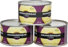 Bild på Favorit Ananasringar i Juice 3x227 g
